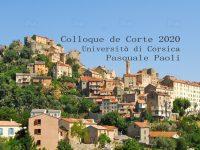 Annonce – Colloque de Corte des 4 et 5 juin 2020